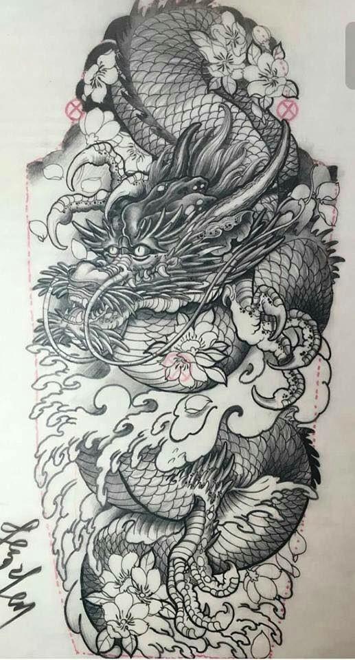 tattoo dragon sleeve tattoos tattoo drawings body art tattoos dragon tattoo drawing