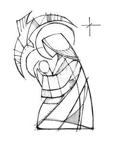 hand drawn vector illustration or drawing of jesus christ good shepherd dibujos para bordar pinterest