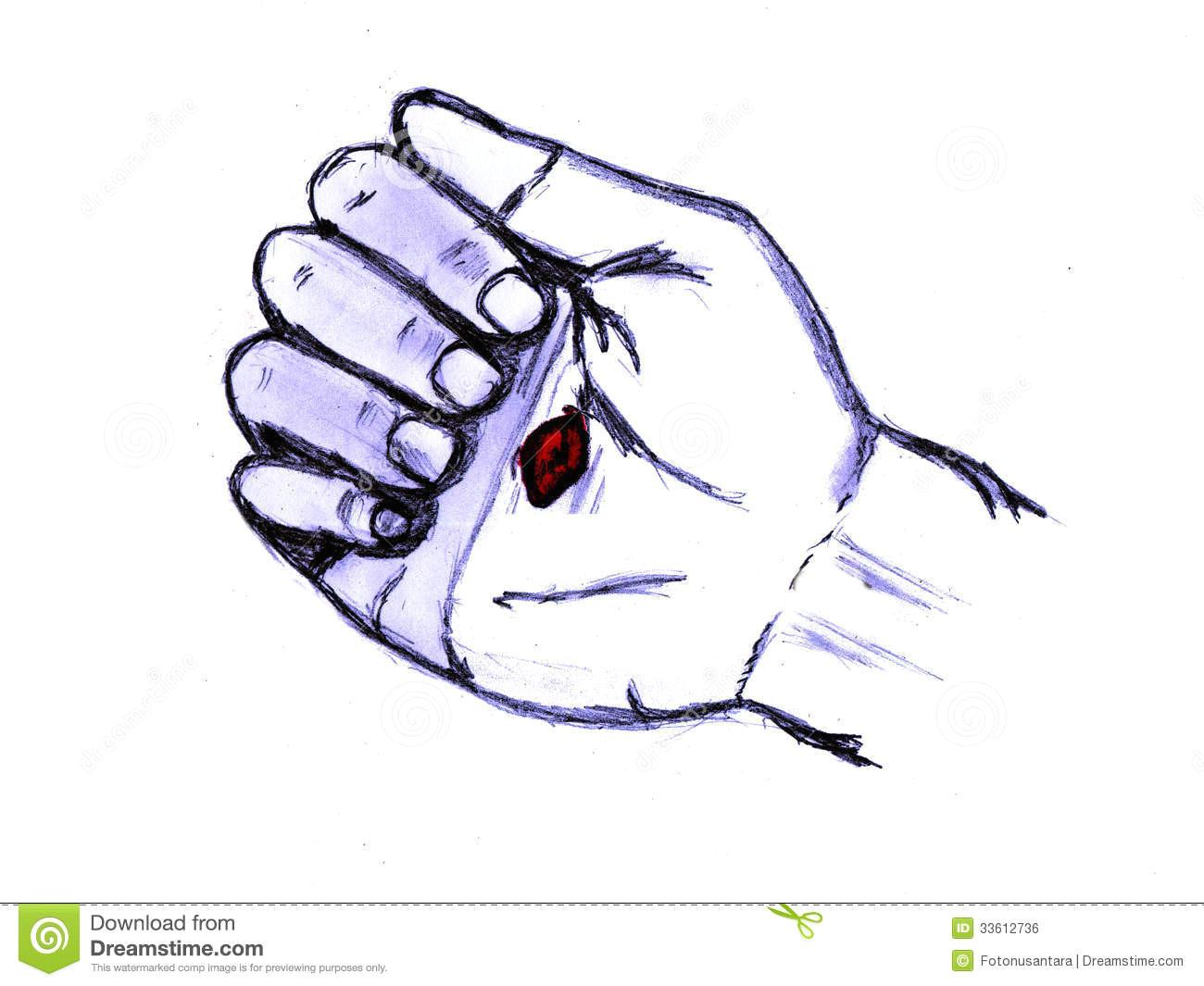 jesus pierced hand palm