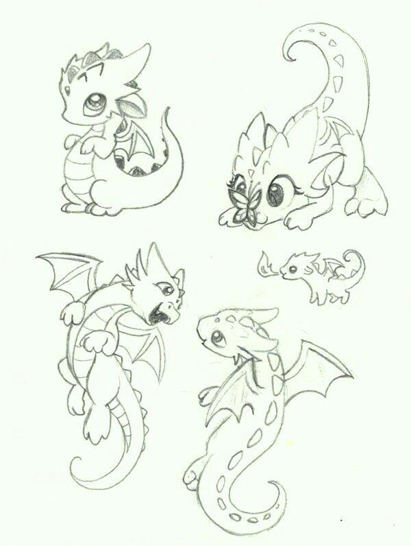 dragon dibujo facil disea o de personajes tatuajes dibujos kawaii pinturas bocetos