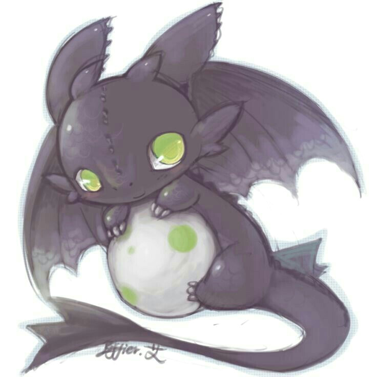 toothless cute egg how to train your dragon anime