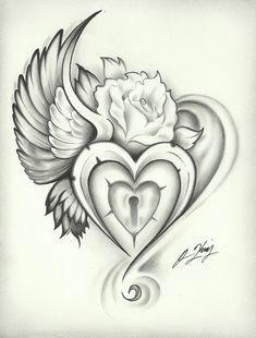 jeremy s gallery cool zelma marsh tattoos sacred heart tattoos heart lock tattoo heart