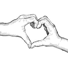 heart hands by karl addison holding hands drawinghand