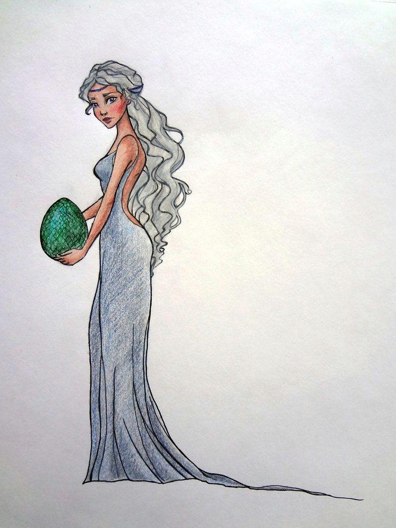 daenerys targaryen by lulu lomaki on deviantart game of thrones fanart