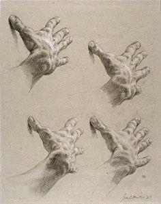 hands study for faith in the wilderness jon de martin