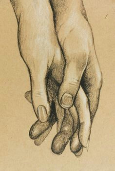 cute original charcoal drawing of hands holding by foxandthecrow short film cute drawings of love