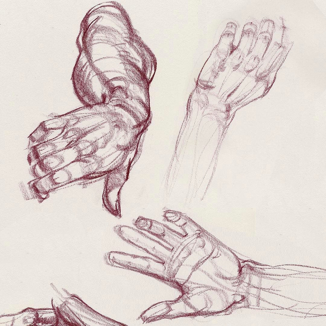 this is an old demo sketch we re doing hands at artcenter in my inventive drawing class figuredrawing lifedrawingclass lifedrawing laartclass