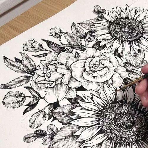 peony flower tattoo sunflower tattoo tattoo drawing