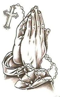 clip art hand with a rosary praying hands with rosary and cross for god cliparts and coloring
