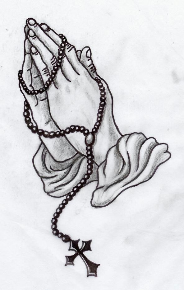 praying hands greywork by lilmoongodess
