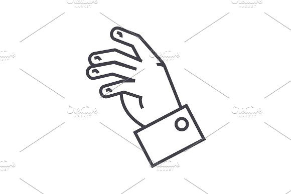 relax hand vector line icon sign illustration on background editable strokes beauty
