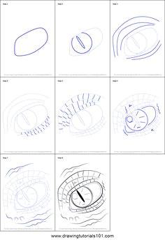 step by step of dragon eye dragon eye drawing