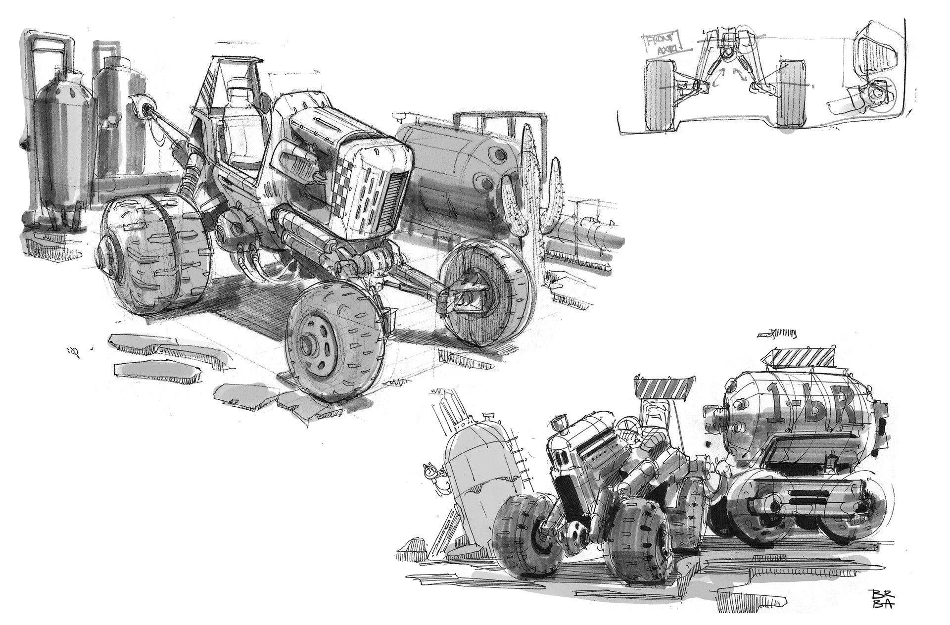artstation off roader sketches braydan barrett