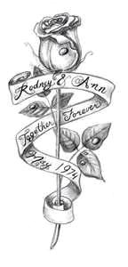 rose and banner tattoo design sketch rose tatoo sketch