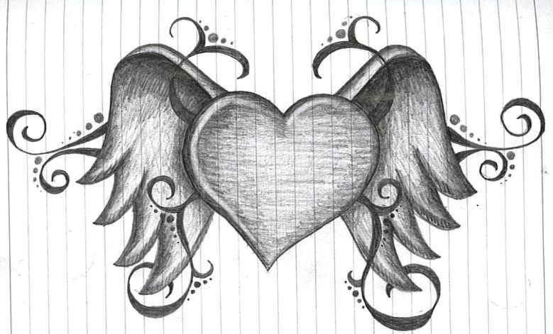 heart with wings by amanda11404 deviantart com on deviantart