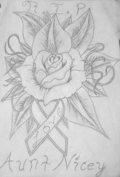 cancer ribbon and rose by amir26114 on deviantart deviantart tattoo cancer tattoos best tattoo