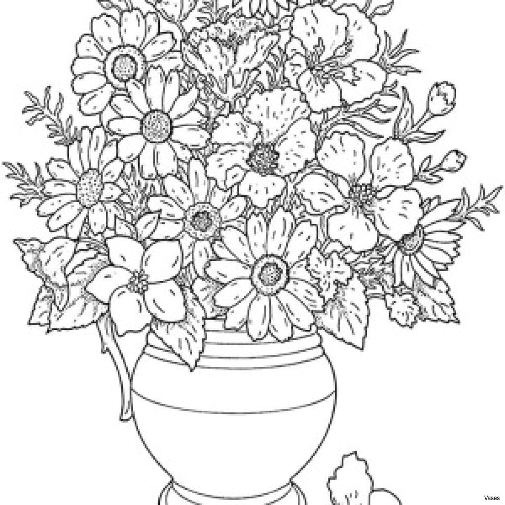 black and white rose coloring pages inspirational lovely cool vases flower vase coloring page pages flowers