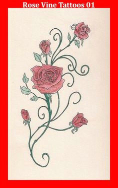 rose vine tattoos 01 rose bud tattoo yellow rose tattoos flower vine tattoos