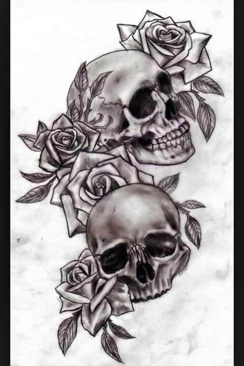 schadel und rosen totenkopf tattoo ideen totenkopf tattoos tattoo unterarm frau