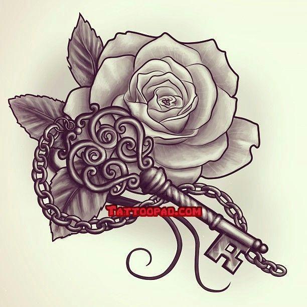 tattoo designs rose tattoos and key tattoos tattoo tattoos ink tattoos pinterest tattoos rose tattoos and tattoo designs