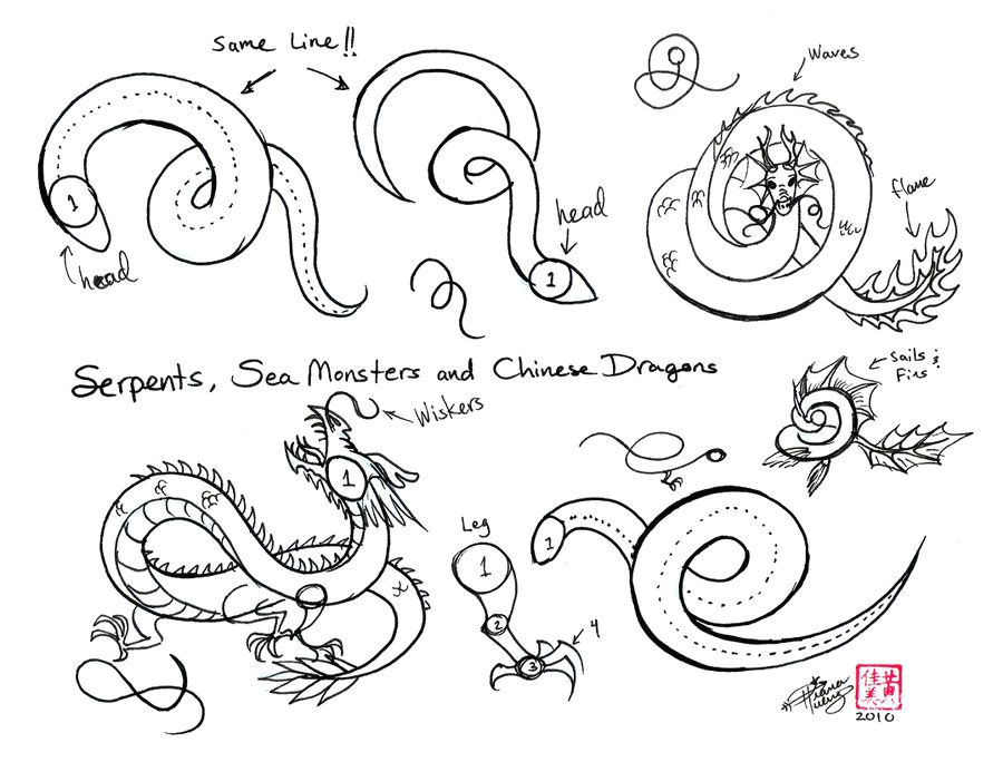 how to doodle wind draw chinese dragons etc by diana huang on deviantart