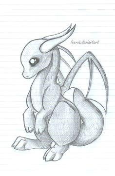 baby dragon sketch