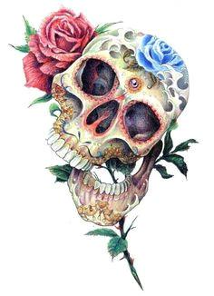 dia de los muertos skull rose sugar skull art sugar skull tattoos