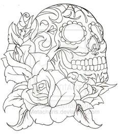 sugar skull tattoo by metacharis deviantart com on deviantart minus the