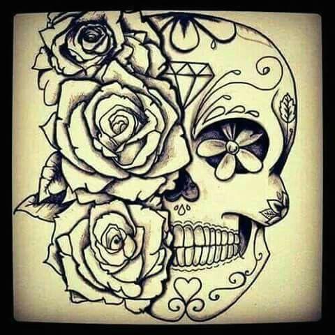 sugar skull art sugar skull drawings sugar skull design skull tattoo design