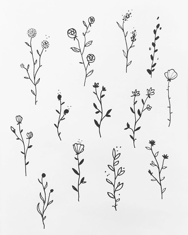Drawings Of Tiny Flowers some Floral Designs Blue Tattoo Designs Tattoos Drawings