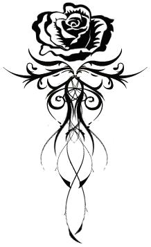 great back tatoo get rid of the rose at the top use lotus flower