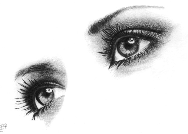 Drawings Of Two Eyes 60 Beautiful and Realistic Pencil Drawings Of Eyes Drawing Faces