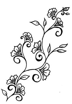 drawings of rosd vines henna inspired design ideas motif floral henna designs drawing