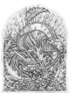 japanese dragon sleeve by jovictory deviantart com dragon tattoo drawing tattoo drawings