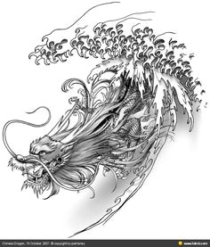 cool water dragon mas dragon