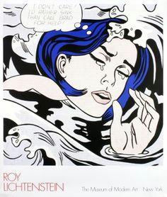 roy lichtentstein drowning girl 1989 serigraph lichtenstein drowning girl tears