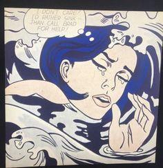 roy lichtenstein drowning girl pop art 35mm vintage art slide ebay roy lichtenstein