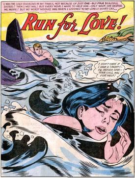 tony abruzzo s splash page from run for love in secret hearts no