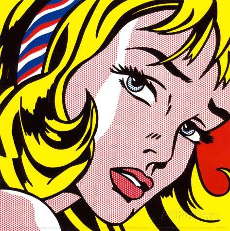 roy lichtenstein madchen mit haarschleife kunstdruck