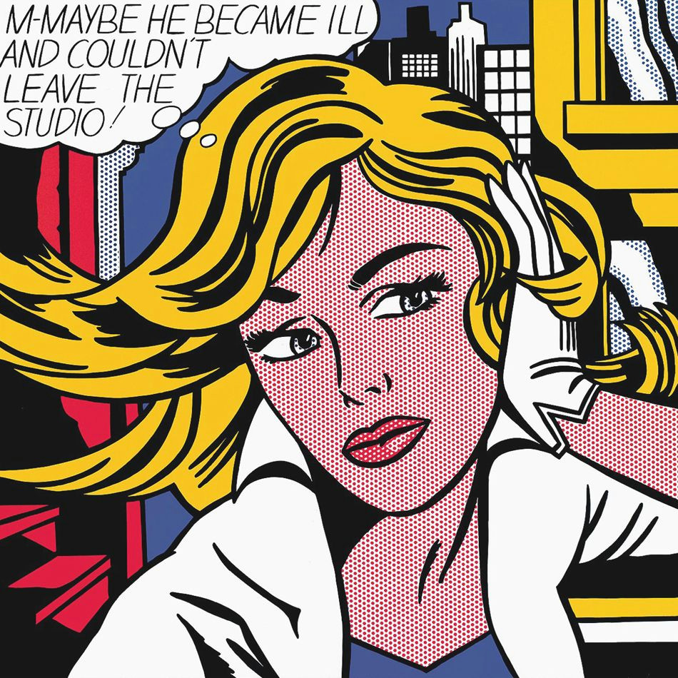 m maybe 1980 by roy lichtenstein available in our shop http