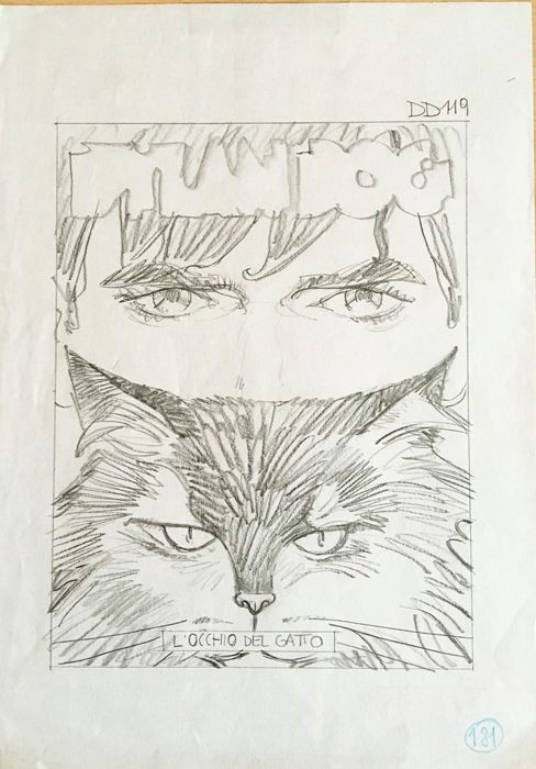 stano angelo original sketch for the cover of dylan dog w b