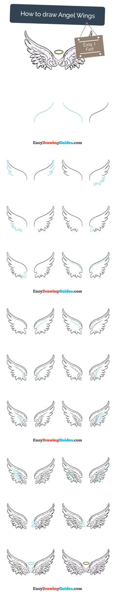 how to draw angel wings in a few easy steps drawing