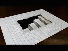 how to draw 3d steps in line paper easy trick art for kids