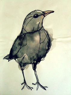 i like this picture of blackbird because the body shape proportion is good recorded simple bird drawingflying