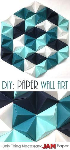 diy geometric paper wall art