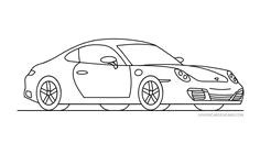 draw a porsche 911 car drawings drawing for kids porsche 911 drawings of