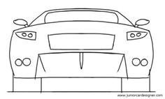 easy car drawing tutorial sports car rear view