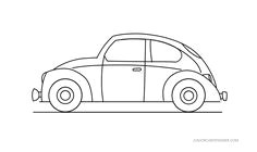 easy car to draw vw beetle
