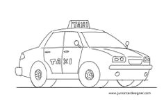 easy car drawing tutorial for kids taxi cab