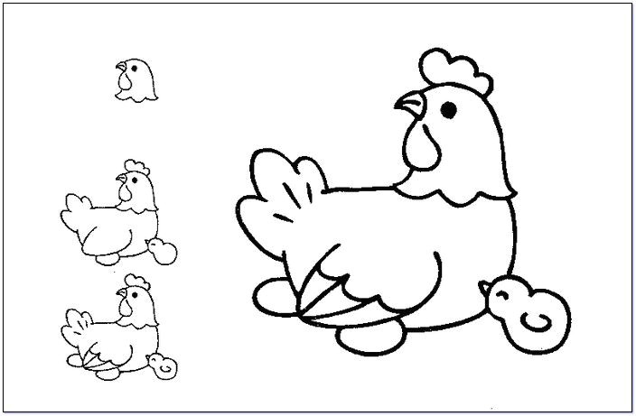easy to draw cartoon farm animals